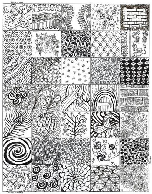 Best 25 zentangle for beginners ideas on pinterest for Drawing patterns for beginners