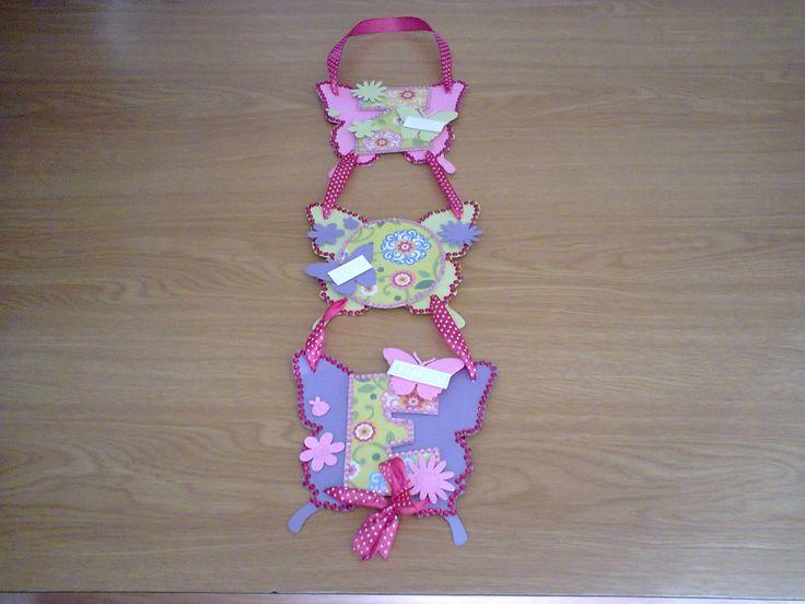 Personalized Kids Butterfly Door Hangers