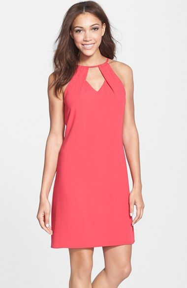 Laundry by Shelli Segal Keyhole Crepe Shift Dress available at #Nordstrom