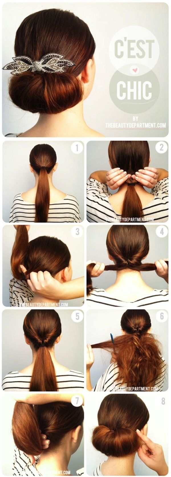 some great chignon styles, seems easy enough for a quick chic up do