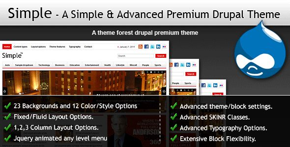 Aimple & Advanced Drupal Theme