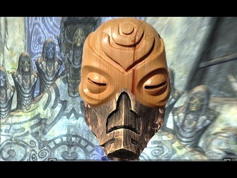 Wooden Mask from Skyrim, carved out of wood