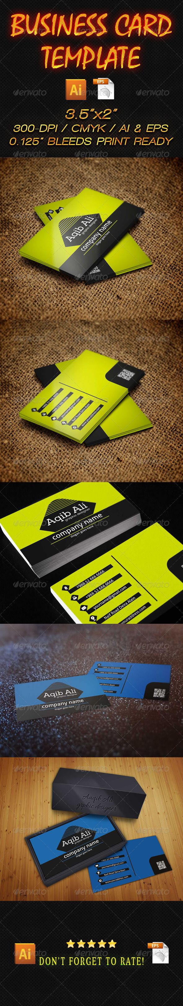 business card 16 business card design templates print templates qr ...
