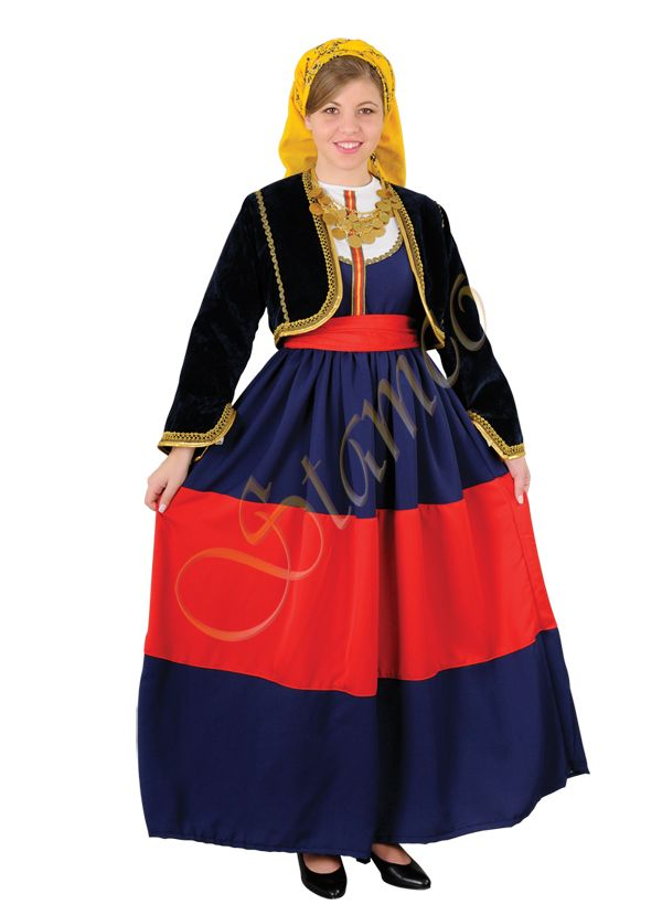 Greek Traditional Costumes   peloponese MANI WOMEN COSTUME