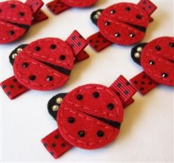 Masterpieces of Fun Art Ladybug Felt Hair Clip - An adorable red and black