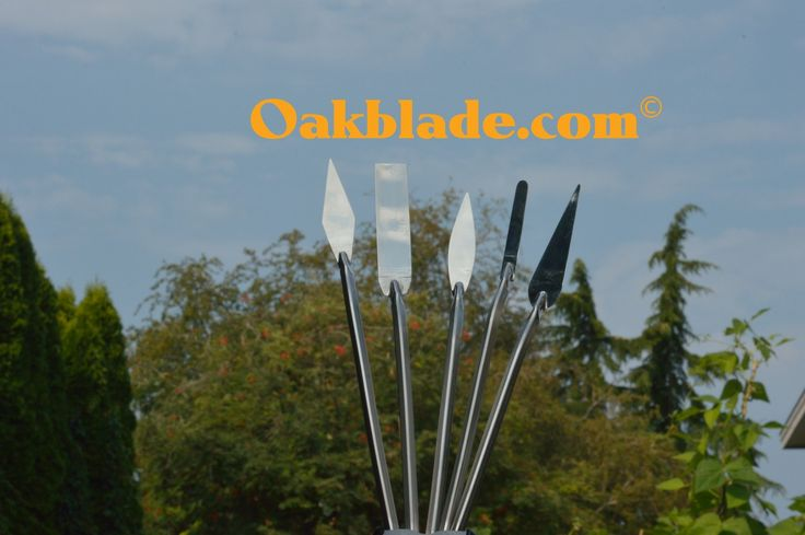 Palette knives for painting. OAKBLADE.COM