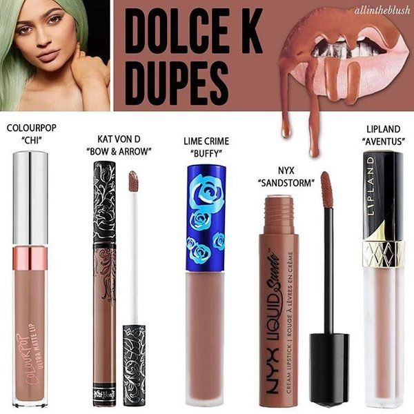 "Luniqe Store on Twitter: ""Dolce K dupes : Colourpop Chi @160rb NYX ..."