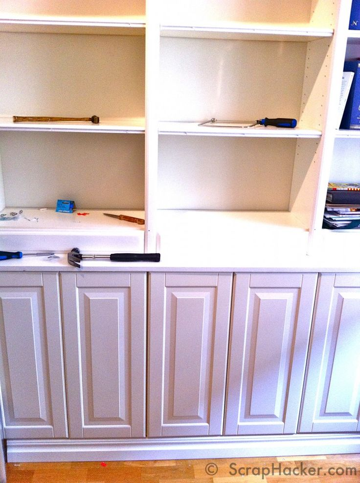 Ikea Hack Bookcase: Customized Billy Book Case With IKEA Lidingö Doors