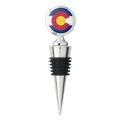 Patriotic Wine Stopper with flag of Colorado USA  $19.95  by AllFlags  - custom gift idea