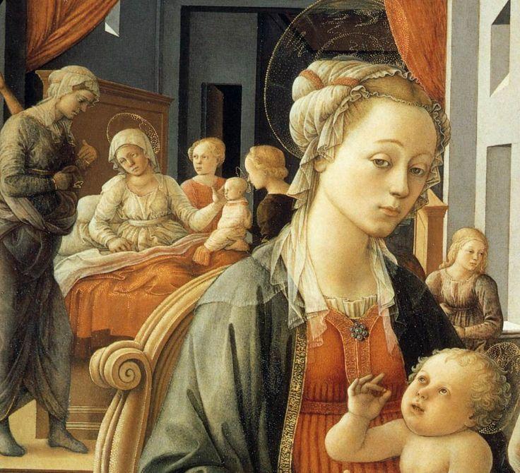 Lippi. Vierge à l'enfant et épisodes de la vie de Sainte Anne, détail (1452)