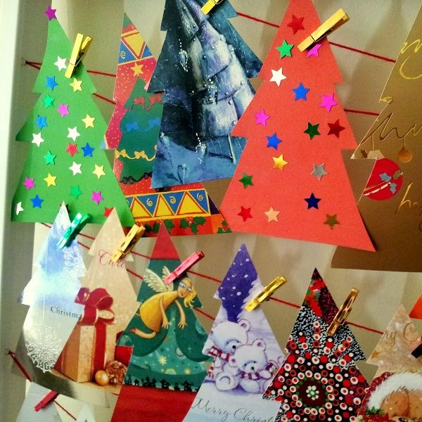 Made From Old Christmas Cards   You Write Your Advent Activities On The