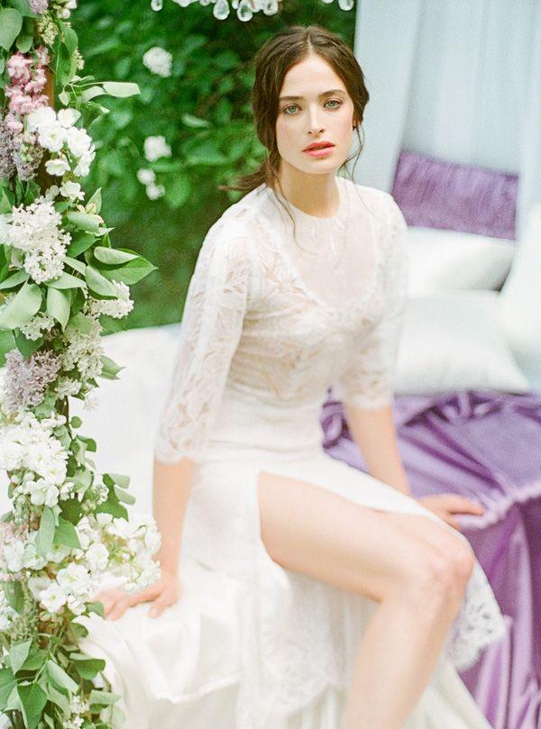 Floral Lace and Lilac Garlands | Warmphoto | Sleeping Beauty - An Enchanted Bridal Morning