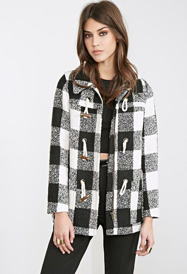 Style Stealer: Check Plaid Toggle Coat