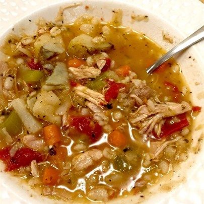 "Turkey Carcass Soup I ""WOW!! This has to be the one of the best soups I've ever made."""
