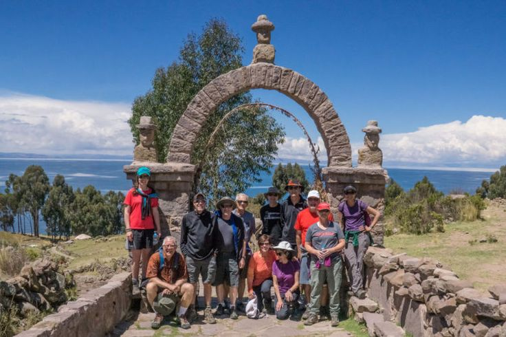 10. Stan's group on Taquile Island on Lake Titicaca, Jaguar trip.