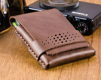 Front Pocket Wallet with punched detail strap.  Minimalist Wallets, Slim Wallets - Made in Australia.