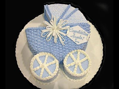 Baby carriage cake  by purpleflourcakes, via Flickr