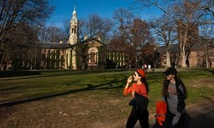 Princeton campus in New Jersey: the university has defended Rosen.