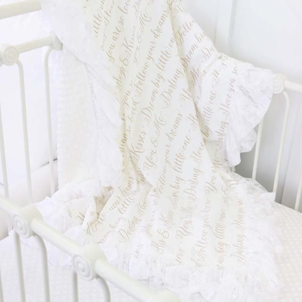 Love Letters and Lace Ruffle Blanket