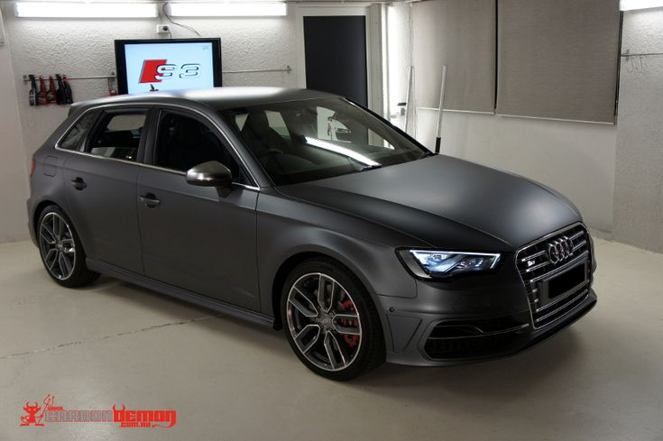 Audi S3 8v Matte Metallic Grey Vinyl Wrap Car