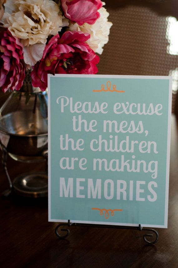 """Home Decor Living/Entry/Play Room Print  """"Excuse the Mess"""" 8x10 Sign/Print or Digital Instant Download JPEG"""