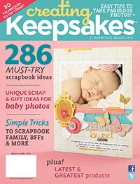 Gorgeous March/April 2012 issue from Creating Keepsakes magazine @CKeditorial