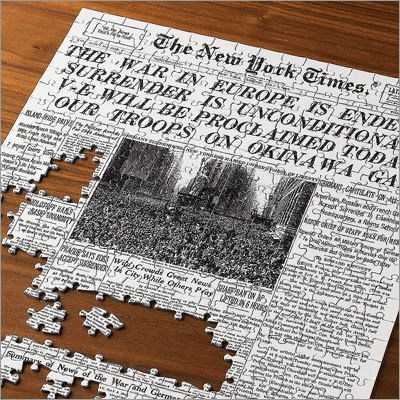 The Select-A-Date New York Times Jigsaw Puzzle. Great for milestone birthdays or anniversaries!