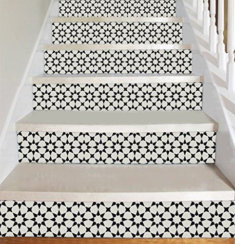 6000 Moroccan Style Vinyl Decal Strips For Stair Risers