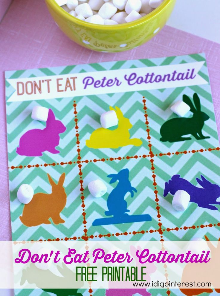 "Don't Eat Peter Cottontail Free Easter Printable from ""I Dig Pinterest"""