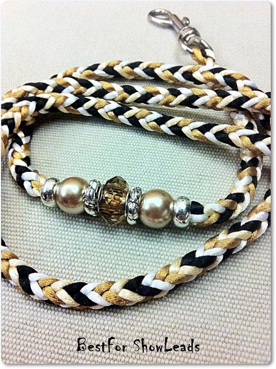 Handbraided dog show lead 8 strands snap lead by BestForShowLeads, $22.00