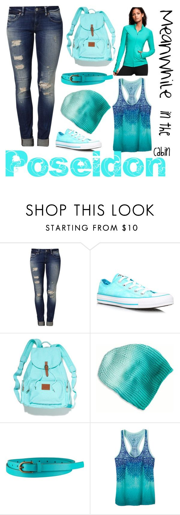 """""""Percy Jackson #4-POSEIDON CABIN"""" by vivrm ❤ liked on Polyvore featuring Mavi, Converse, Victoria's Secret PINK, American Eagle Outfitters, Uniqlo and Victoria's Secret"""
