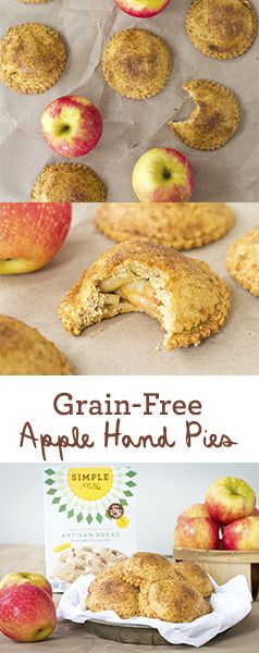 Simple grain-free Apple Hand Pies made with Simple Mills Artisan Bread Mix