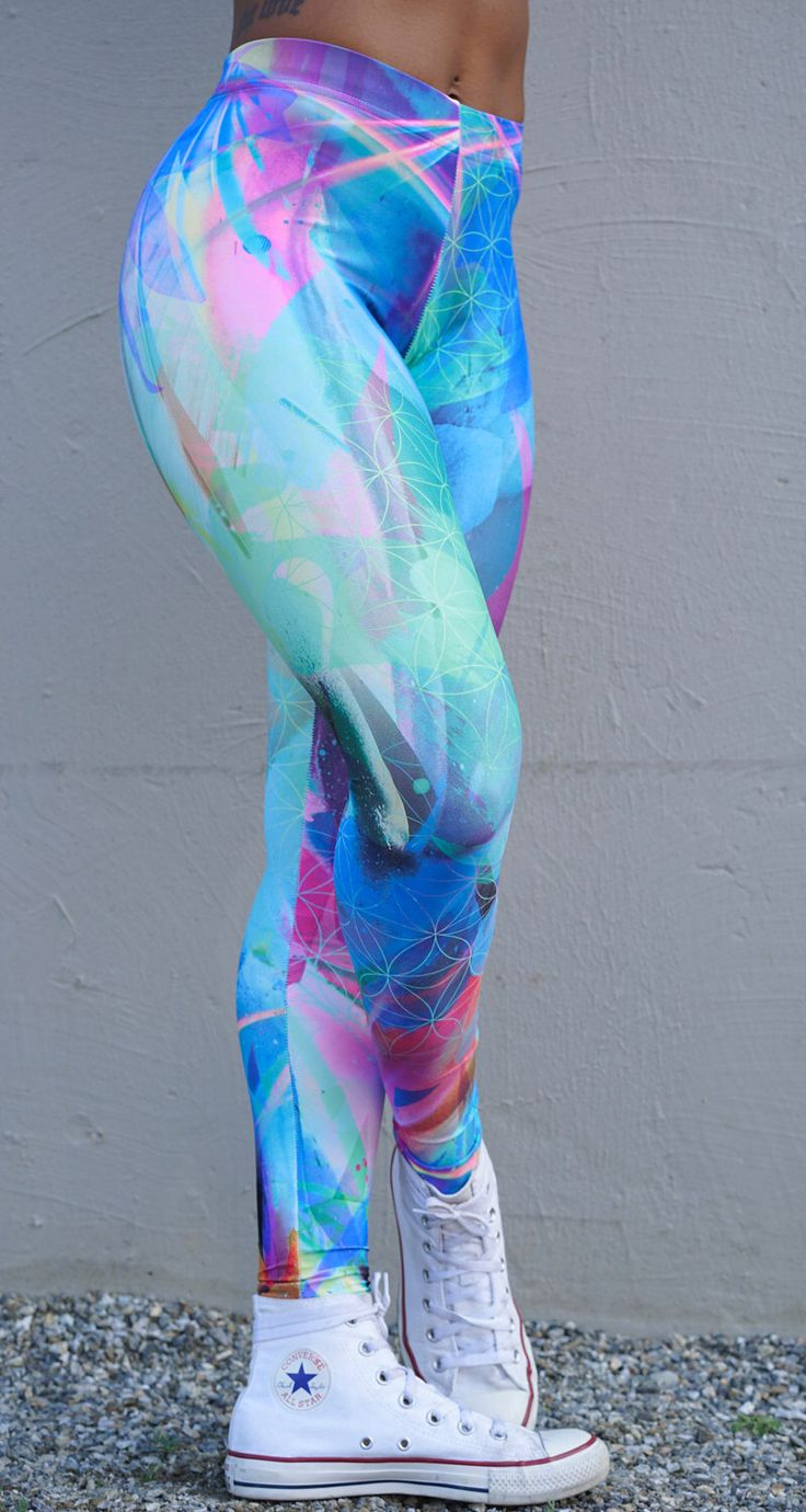 Life in Color Leggings, festival leggings, rave clothing, yoga leggings, colourful pattern, bright, sacred geometry, seed of life by MintandChopsticks on Etsy https://www.etsy.com/listing/452856466/life-in-color-leggings-festival-leggings