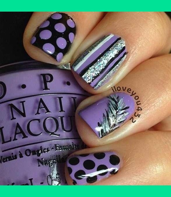 Superr Cutee Purple And Silver Nails | Lexxi H.'s Photo | Beautylish