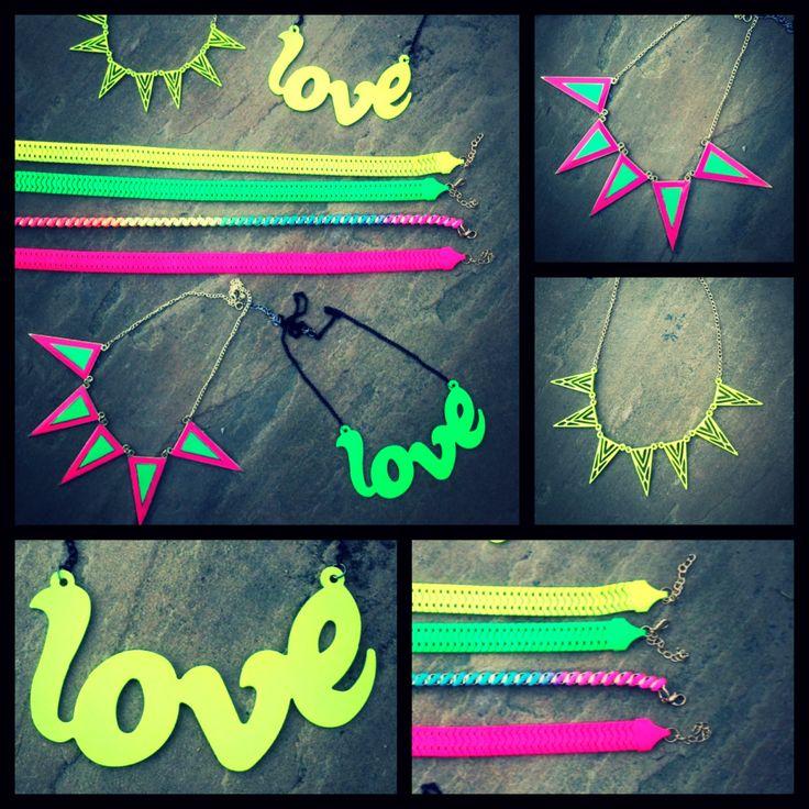 Neon Love Necklaces, TIQUE