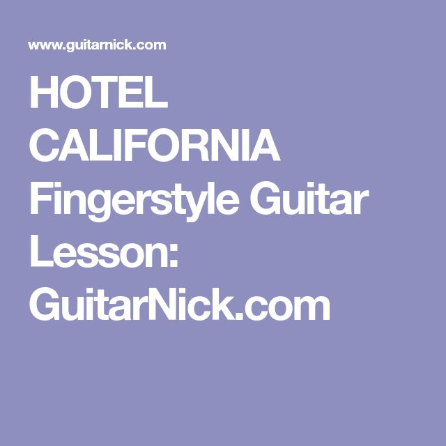 hotel california intro tab pdf