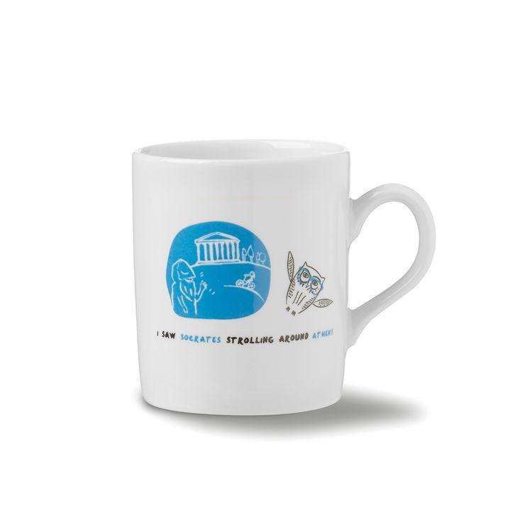 Mug Athens: I saw Socrates strolling around Athens!