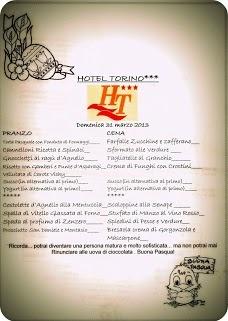 Il menù di Pasqua 2013. Hotel Torino Jesolo. http://www.hoteltorinojesolo.it
