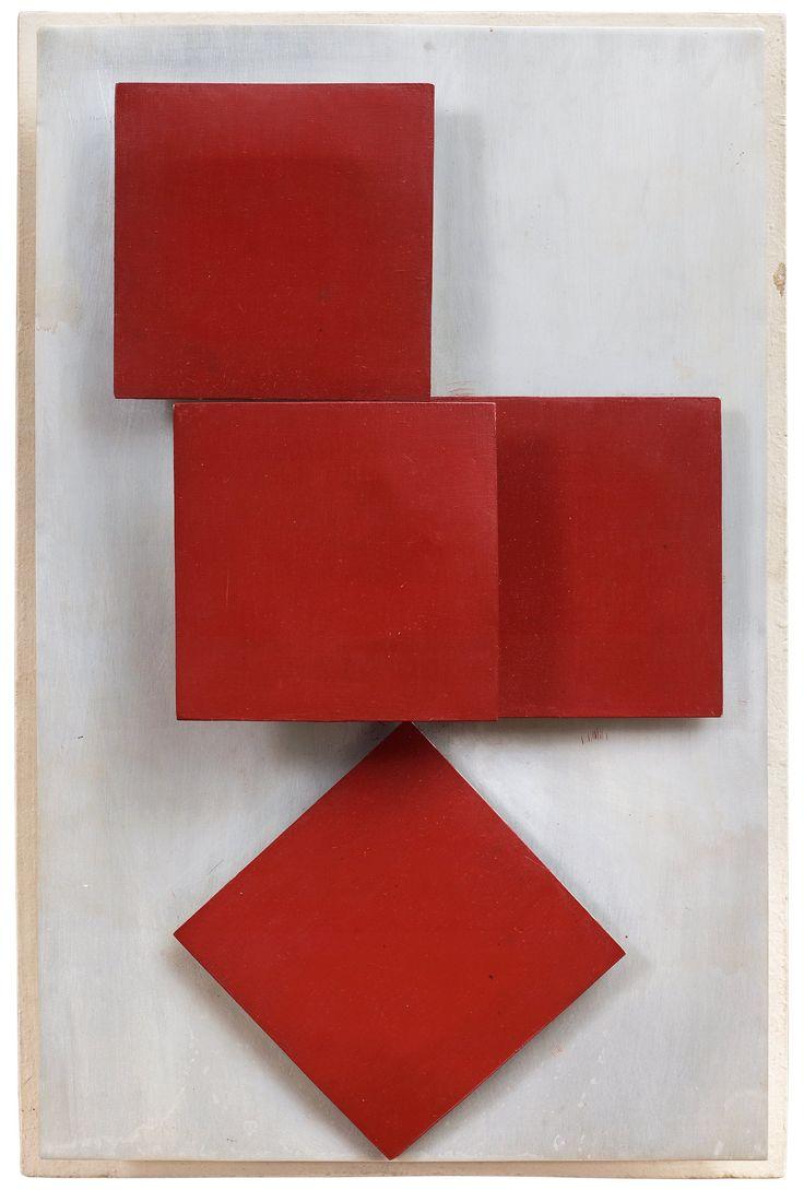 HENRYK STAZEWSKI, Relief. Signed Henryk Stazewski and dated 1966 on verso. Painted a.... - Spring Modern Auction, Stockholm 572 – Bukowskis