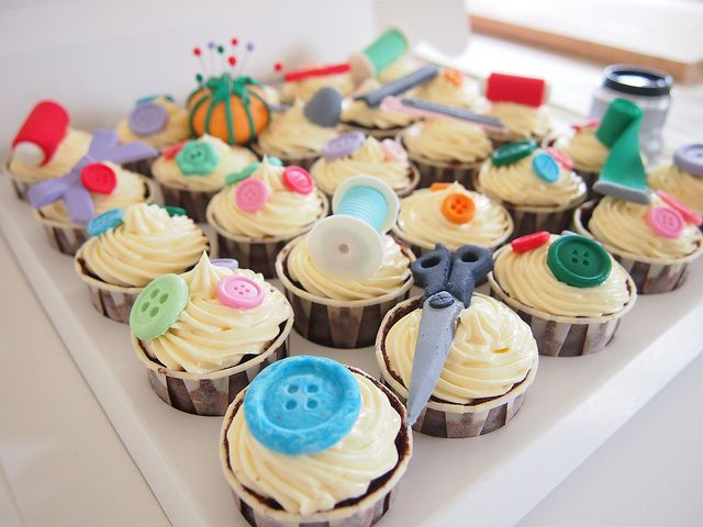 Birthday Cupcakes ( Sewing themed Cupcakes ) | Flickr - Photo Sharing!