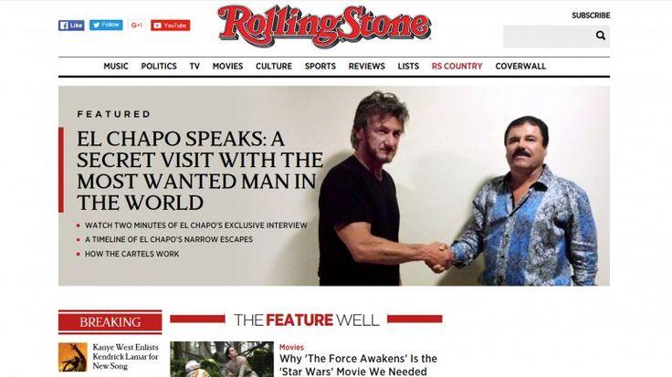 El actor estadounidense Sean Penn aseguró que su entrevista con el narcotraficante mexicano Joaquín'El Chapo' Guzmán, que entonces era prófugo de la Justicia, 'fracasó' ya queno sacó a