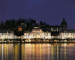 Beautiful Hotel looking out on Lake Lucerne - Blues Festival every Fall