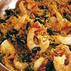 Foto recept: Biryani met garnalen en spinazie