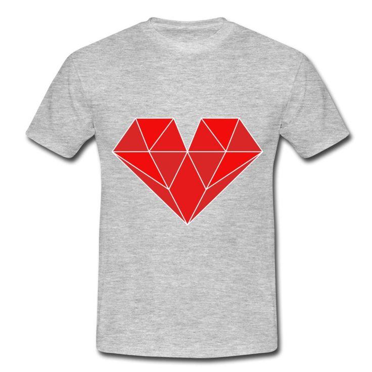 Motyw na koszulkę diamentowego serca