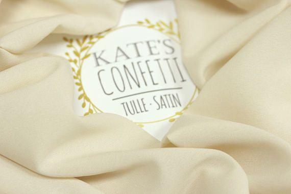 511 Vanilla Soft Crepe Chiffon Fabric Wholesale Crepe De
