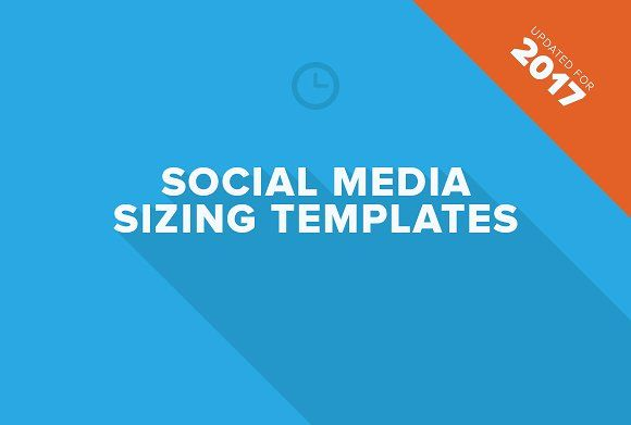 Social Media Sizing Templates by Prixel Creative  on @creativemarket