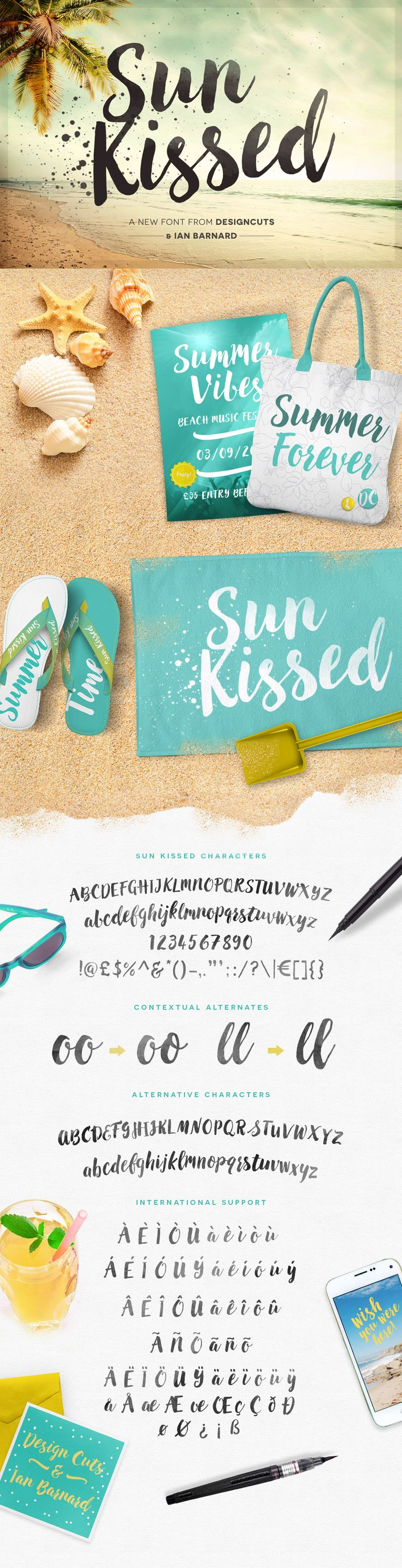 Hand lettered Sun Kissed Brush Font #script #font ONLY $10 today pinned by www.amgdesign.nz