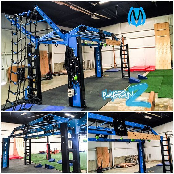 MoveStrong Nova XL Bridge customized for ninja warrior style training