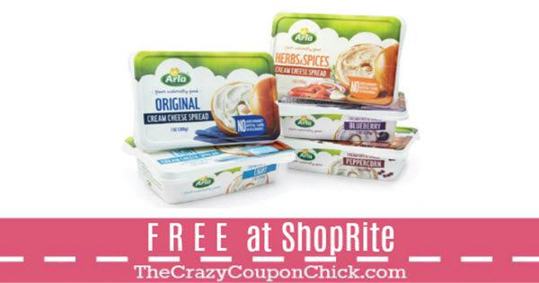 FREE Arla Cream Cheese with New ShopRite Digital Coupon (thru 10/7)