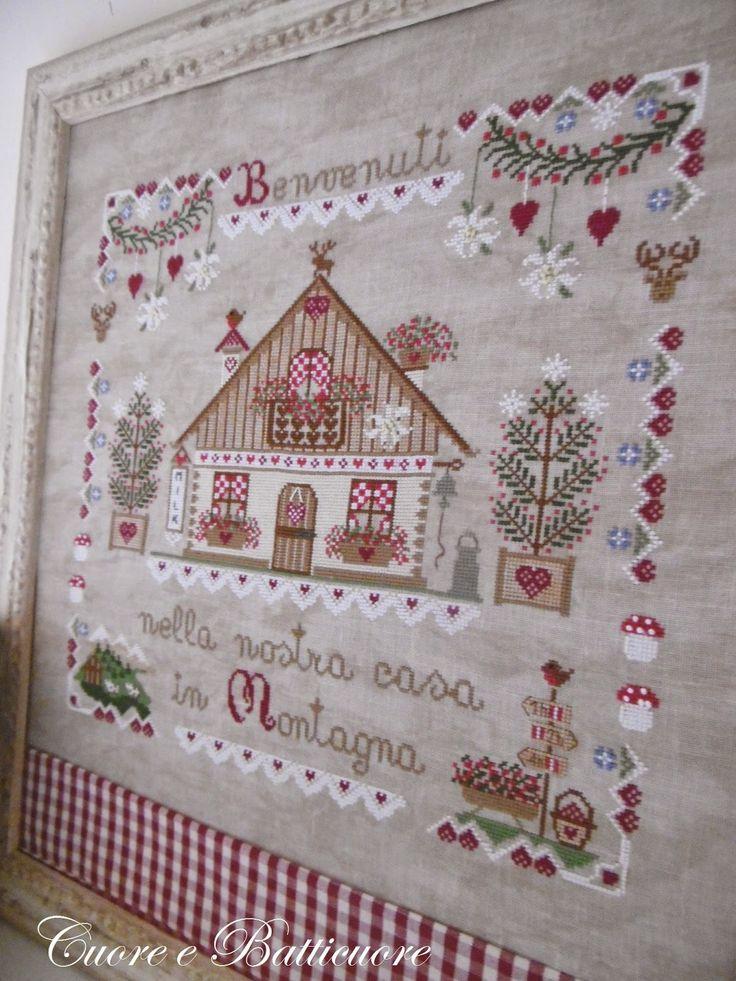 #Cuadro con Alegres diseños de corazones navideños